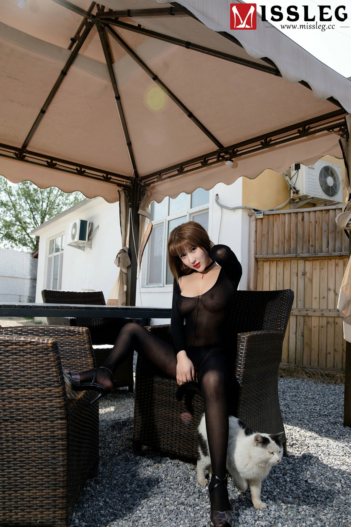 [MISSLEG蜜丝]钻石版 V016 林兮 – 黑色魅影