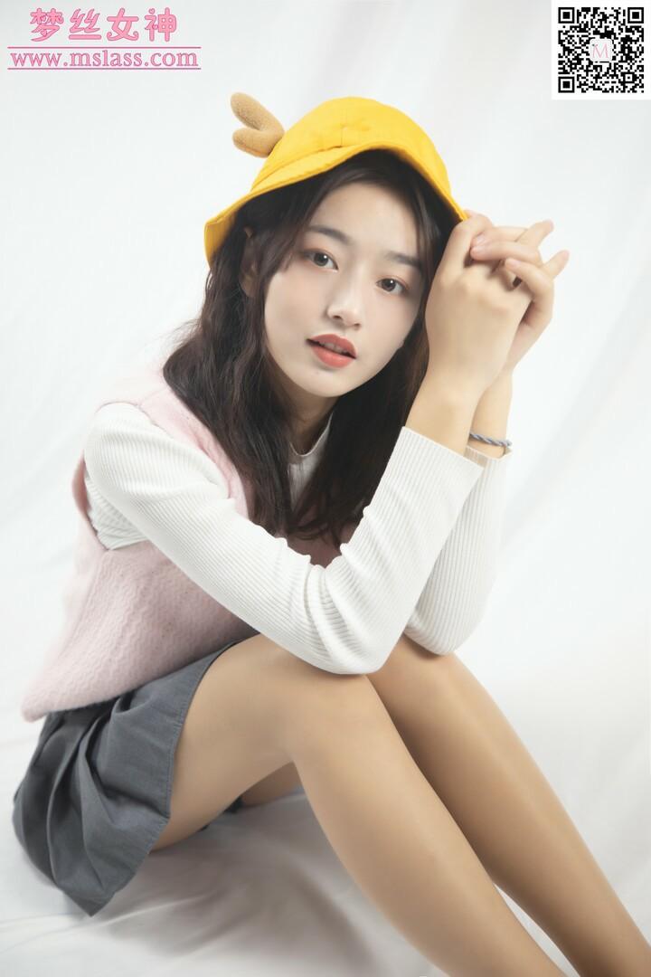 [MSLASS]梦丝女神 – 璇璇3 9分颜值小黄鸭帽